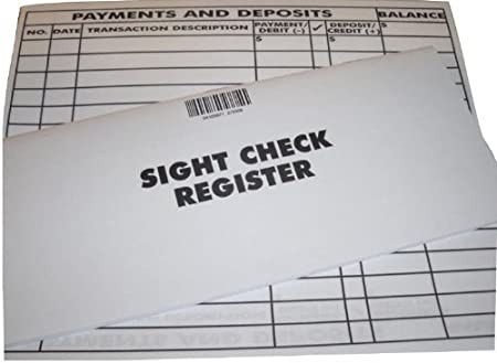Amazon.Com : Oversize Print Sight Transaction Registers - Set Of 2