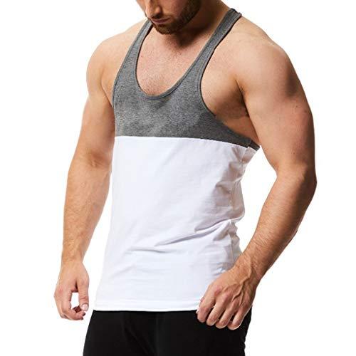 Stripe Collegiate Shirt Rugby - Fastbot Men Splicing Stripe Sports Vest Striped Splice Large Male Vest White