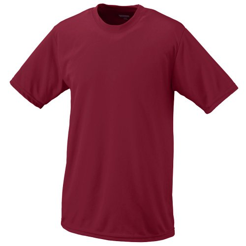 Moisture Management Wicking Performance Cool and Comfortable Athletic Short Sleeve Shirt & Undershirt (All Sports: Baseball, Softball, Football, Soccer, Lacrosse, Volleyball, Track, etc) Augusta Baseball T-shirt