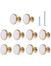 Deurknoppen voor Kasten Jiayi 10 Stuks Keukenkast Deurknoppen Paddestoel Ronde Platte Meubelkast Knop Handgrepen voor Laden Garderobe Deurknoppen voor Binnen
