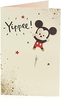Carlton 601071-0-1 - Tarjeta de cumpleaños con diseño de Mickey Mouse de Disney