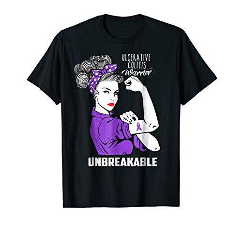 Ulcerative Colitis Warrior Unbreakable Shirt Awareness Gift