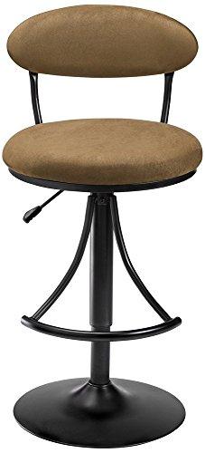 Stool Bar Suede Hillsdale - Hillsdale Furniture Venus Swivel Bar Stool - Bear Suede Black Powder Coat