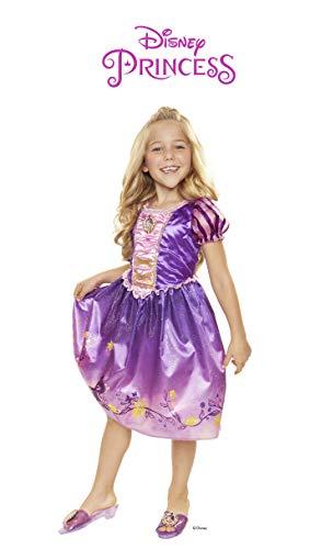 Disney Princess 4315 Rapunzel Explore Your World Dress, Size: 4-6x, Purple/]()