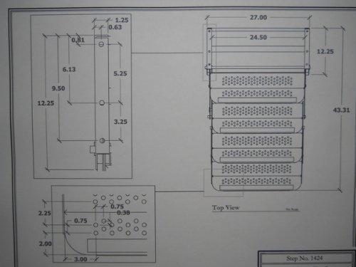 Elkhart Tool RV Motorhome Camper Trailer 24'' Quad Step / 27'' Drop/Foldaway Aluminum Steps by Elkhart Tool (Image #1)