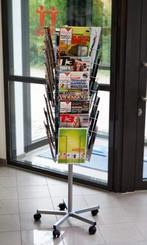 TWINCO - A4 32 Compartment Floor Standing Mobile Literature Holder