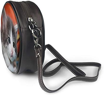 レディース 斜めがけバッグ ザーショルダーバッグ 肩掛けバッグ 可愛いねこ トートバッグ 丸形 ミニバッグ 財布 デート 面白い 旅行用