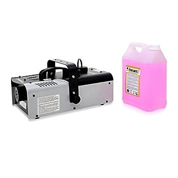 M/áquina de niebla Beamz S1200 MKII 200m/³ control remoto