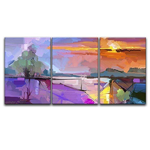 3 Panel Abstract Colorful Landscape x3