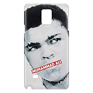 Loud Universe Samsung Galaxy Note 4 3D Wrap Around Muhammad Ali Print Cover - Multi Color