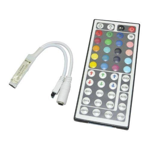 Tzou 44 Keys Mini Ir Remote Controller for 3528 & 5050 RGB L