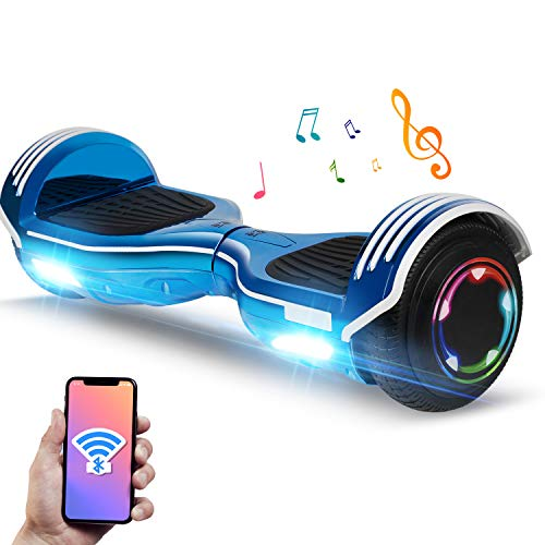"YHR Hoverboard Flashing Wheel Hover Board 6.5"" Self Balancing Scooter -UL Certified with Free Bag-Blue"