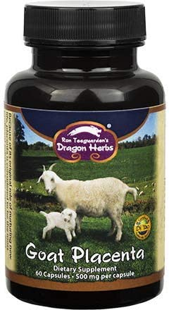 Dragon Herbs – Goat Placenta – 500 mg – 60 capsules