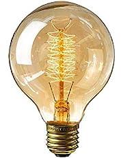 Vintage gloeilamp, E27 Retro LED decoratieve lampen Globe gloeilamp Dimbare gloeilamp Wolfraam gloeilamp voor nostalgie en retro verlichting