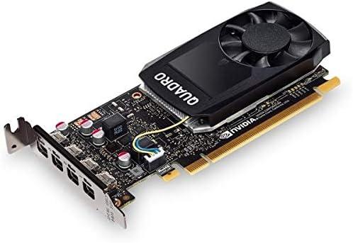 HP 1370046632 - Nvidia Quadro P1000 4GB Kit W2 Adp Graphics Card - Black