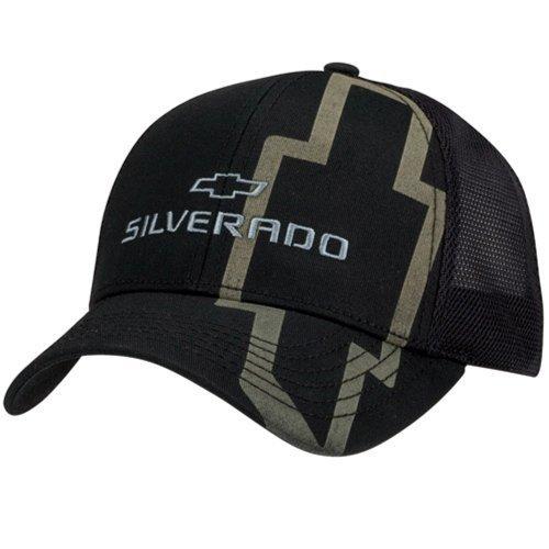 Chevy Silverado Black Twill & Mesh Hat