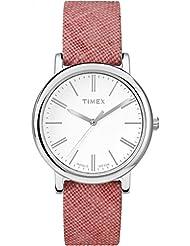 Timex Womens Originals Linen | Pink Fabric Strap Minimal Dial | Watch TW2P63600