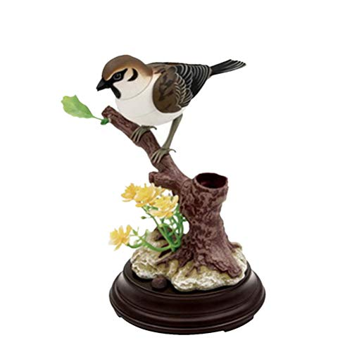 Dancing Flower Sound Activated (Toyvian Sound Activated Chirping Bird Realistic Singing Sounds Movement Battery Operated with Pen Holder Not)