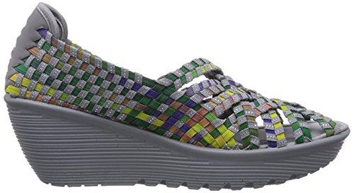 Skechers ParallelUnbeweavable - sandalias abiertas de material sintético mujer gris - Grau (GYMT)