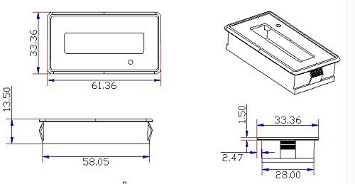 12V Battery Fuel Gauge, 12V Lead Acid Battery SLA Battery Tester Battery Meter For ATV,Quads and 4 Wheelers,Stages Power Meter Battery (12V SLA Fuel Gauge with Color LCD) by YZ (Image #6)
