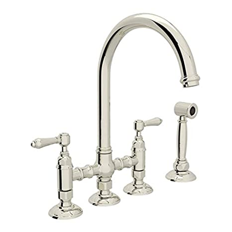 ROHL A1461LMWSPN-2 KITCHEN FAUCETS, 4.75 x 17.00 x 11.00 inches, Polished  Nickel