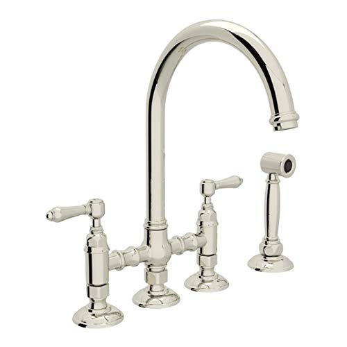 (ROHL A1461LMWSPN-2 KITCHEN FAUCETS 4.75 x 17.00 x 11.00 inches Polished Nickel)