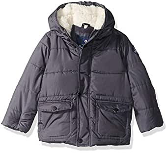 Ben Sherman Boys' Toddler Bubble Jacket, Charcoal, 2T