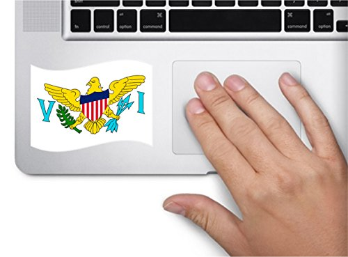 Islands Indoor Flag - Waving flag virgin islands US 4x2.5 country symbol love humor america united states color sticker state decal vinyl - Made and Shipped in USA