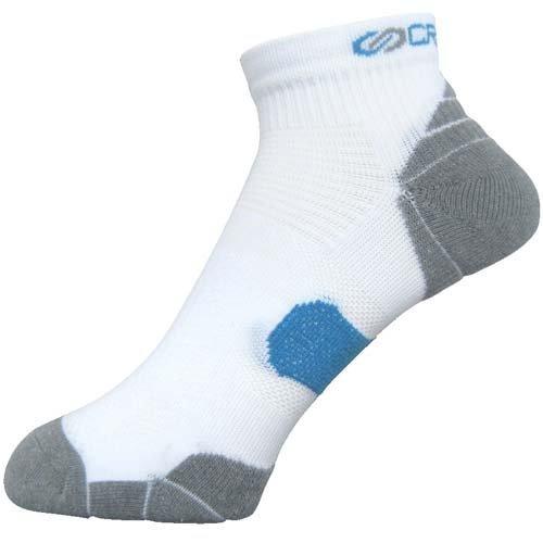 非効率的なリサイクルする赤ランニング ソックス 靴下 クロスプロ アーチパネルクッション 24-26cm メンズ ホワイト Z171-811-24-10 2426