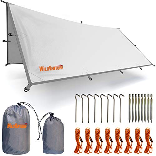 834962475ff WildVenture Tent Tarp Rain Fly - Waterproof Lightweight Survival Gear  Shelter for Camping