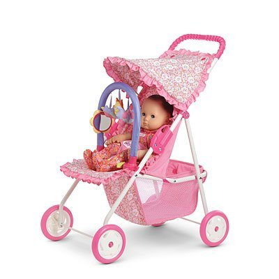 Amazon.com: American Girl Bitty's Light Pink Stroller for Dolls ...