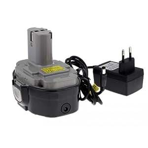Batería para Makita aspiradora UB181DZ Cargador inclu celdas japonesas, 18V, Li-Ion [batería herramienta electroportátiles]