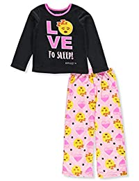 Emoji Girls' 2-Piece Pajamas