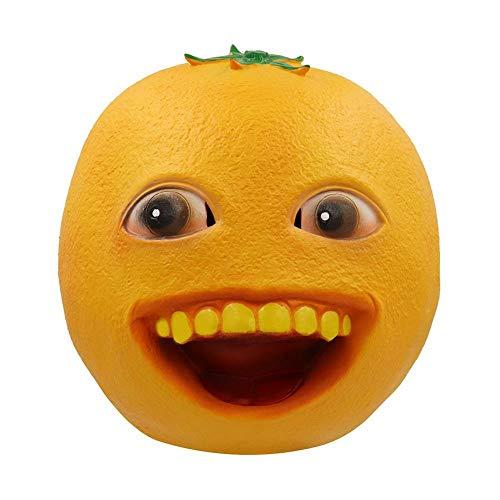 GAJSDJHN Mask Annoying Orange Toy Cosplay Mask Latex Helmet for Adult Cosplay Props Ball Party Bar Supplies Halloween Theme Mask