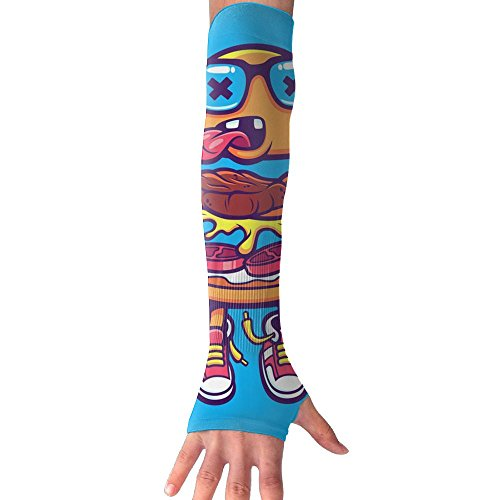 Funny Hamburger Long Sleeve Sun Protection Arm Sleeves Arm Cooling Sleeve Cycling Outdoor Sports (Cola Bear Costume)