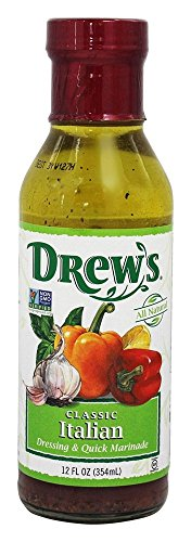 Drew's All-Natural Salad Dressing and 10 Minute Marinade, Garlic Italian, 12-Ounce Bottle (Drews Italian Dressing compare prices)