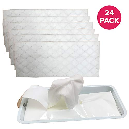 (Think Crucial 24PK Replacement Disinfecting Wet Mopping Clothes Wipes Refill, Approximate Size 8x10 inches)