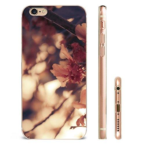 Iphone 5 Hülle SUPER-CASE iphone cover schönes Design mit Rosa Blüten Gemaltes iphone Hülle für IPHONE 5/5s/se