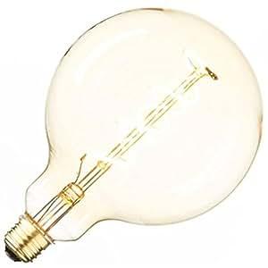 """Aspen Brands LED120FS LED Edison Vintage Oversized Light Bulb and Cord, Amber, 7"""""""