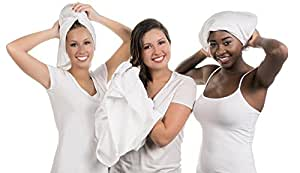 Ultimate Hair Towel-Anti-Frizz Soft Smooth Absorbent Combed Cotton-Wrap, Plop or Scrunch-Large (29x45in)- Made in USA