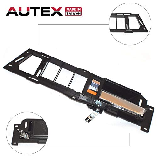 AUTEX Interior Front Right Door Handle Chrome Lever and Black Housing Passenger Side Compatible with Chevrolet,GMC C/K 1500 2500 3500 Truck Suburban,Chevy Blazer 88-94 77129