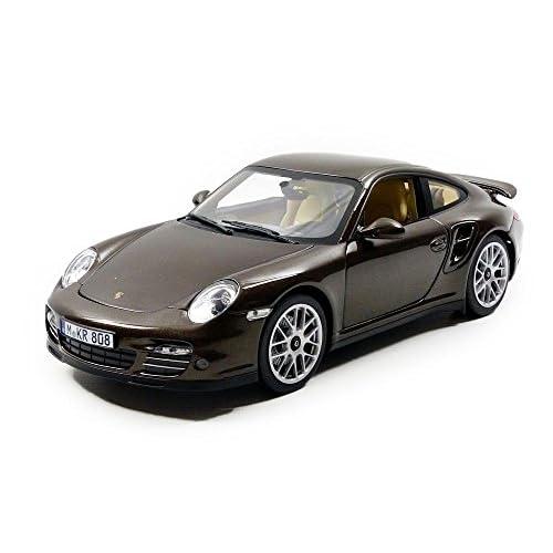 Norev Porsche 911/997 Turbo 2010 Véhicule Miniature, 187622, Marron Métal, Echelle 1/18