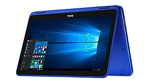 Dell Inspiron 2-in-1 11.6-inch HD Touchscreen Convertible Laptop PC, Intel Celeron N3060 Dual-Core Processor, 2GB RAM, 32GB eMMC, WIFI, Bluetooth, HDMI, NO DVD, Windows 10, Blue