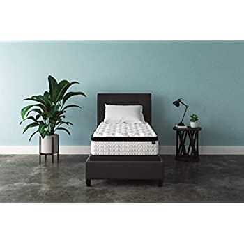 Signature Design by Ashley - 12 Inch Chime Express Hybrid Innerspring - Firm Mattress - Bed in a Box - Twin - White