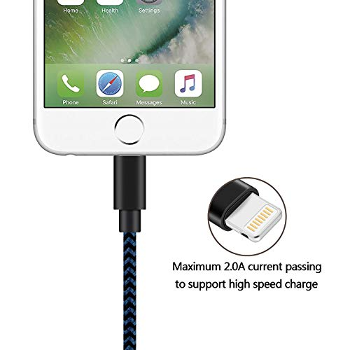 iPhone Charger, Mfi Certified 3Pack 10ft Lightning Cable iPhone Charger Cable Nylon Braided Charging Cord Compatible iPhone XS/Max/XR/X/8Plus/8/7Plus/7/6Plus/6S/SE/iPad and More…