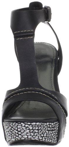 Belle by Sigerson Morrison Womens Braiden Wedge Sandal Black GK75imcOm