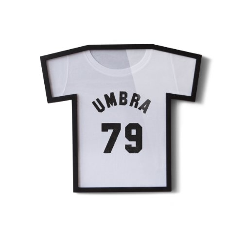 Umbra T-Frame T-Shirt Display Case - Picture Frame to Display Youth Sized T-Shirts (Small to Large), Black
