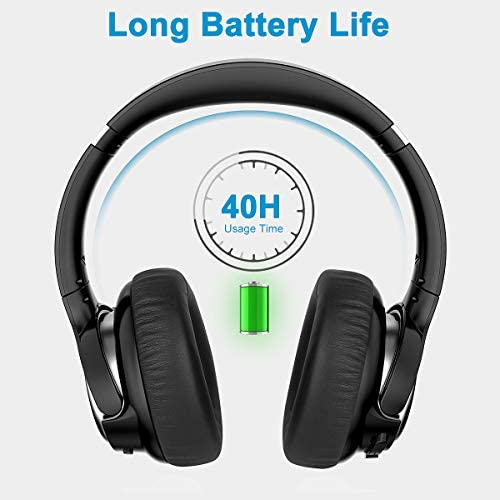 Active Noise Cancelling Headphones, AIKELA Wireless Bluetooth Over Ear Headset with Deep Bass Hi-Fi Sound Soft Earbuds 30H Playtime Fast Charging ANC Headphone for Online Class Travel Home Office 41eRZC1q04L