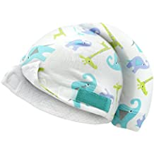 Tortle Adjustable Lucky Elephant Baby Beanie Head Protector for Newborns, Boys and Girls 0-6 Months, Prevents Flat Head Syndrome and Supports Neck, Machine Washable, FDA Cleared
