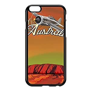 Australia Black Hard Plastic Case for iPhone 6 Plus by Nick Greenaway + FREE Crystal Clear Screen Protector